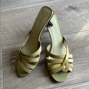 Green NINE WEST sandals